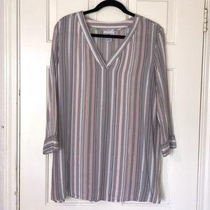 Liz Claiborne Stripped Blouse Size XL
